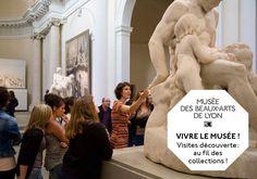 Médiatrice en action au Musée des Beaux Arts de Lyon.