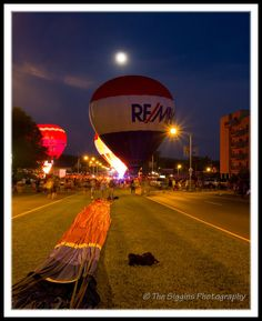 Funfest Balloon Glow   Kingsport, TN  The Siggins Photography Blog: Balloons and Moons