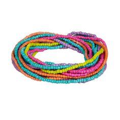 Beaded bracelet wrap in multi colours
