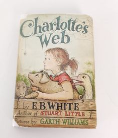 Edition Hardcover Books for Children in English Charlotte's Web Book, Eb White, Garth Williams, Harper Row, Stuart Little, Map Puzzle, Charlottes Web, White Books, Vintage Children's Books