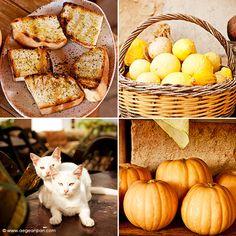 Cretan pumpkins and organic lemons