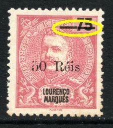 D. Carlos I com sobretaxa 50r s/ 75r (*) Erro