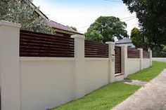 Cheap Fence Ideas Uk Modern Fence With Vine.Modern Fence For House. Brick Fence, Front Yard Fence, Fenced In Yard, Fence Stain, Fence Gate, Concrete Fence Wall, Gabion Fence, Horse Fence, Small Fence