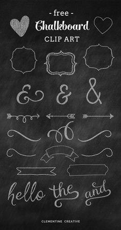Chalkboard Fontes , Imagens e números Free - Cantinho do blog