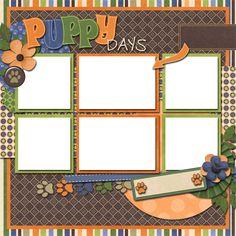 Puppy days dog scrapbook layout