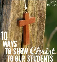 If you're a Christian teacher, it shouldn't matter where you teach. Our goal should be the same - to show Christ to our students. Just talking about Him isn't enough. Our students need to see Christ in us.