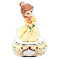 """Disney ''Once Upon a Time'' Musical Belle Figurine by Precious Moments  I have this music box <3 among my other Belle stuff hehe the rendition of """"Beauty and the Beast"""" is so lovely to listen to :)!"""