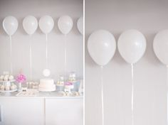 Cute and simple way to decorate a cupcake table or candy buffet!