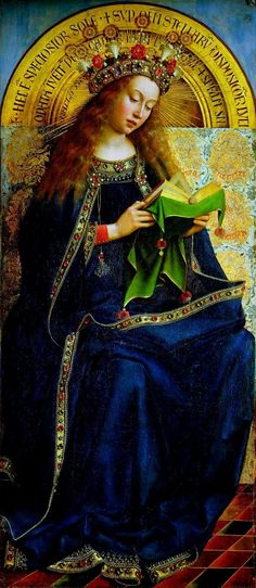 The Ghent altarpiece Virgin Mary.  Jan van Eyk (1390-1441).