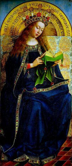 The Ghent altarpiece Virgin Mary.  Jan van Eyk (1390-1441).