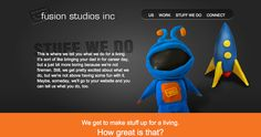 Stuff We Do page Fusion Studios. Studios, Website, Design