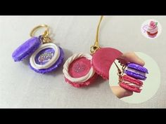 Polymer clay tutorial: Message in a macaron - YouTube