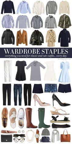 WARDROBE STAPLES | College Prep | Bloglovin'