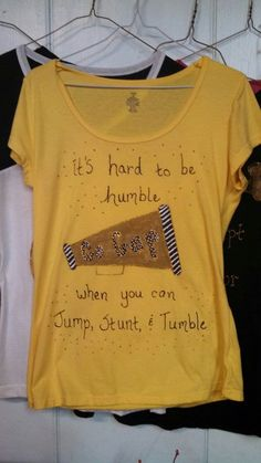 Hand Painted Cheer Tshirt by CherishEveryMomentSF on Etsy, $14.99
