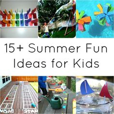 this ones for you! @Laura Jayson Jayson Jayson Jayson Jayson Jayson DeLeeuw, 15+ Summer Fun Ideas for Kids | #kids #summer #crafts #activities
