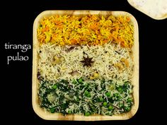 tiranga pulao recipe, tiranga rice, tri-color rice with step by step photo/video recipe. celebrate indian independence day with this medley of rice recipe