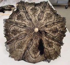 1860 French silk parasol
