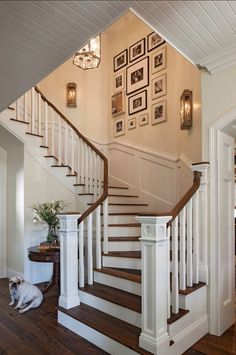 Ideas for stairs, staircases and stairways! Ideas for stairs, staircases and stairways! Decorating Stairway Walls, Staircase Wall Decor, Stair Walls, Staircase Remodel, Open Staircase, Staircase Design, Staircase Ideas, Staircase Landing, Design Salon