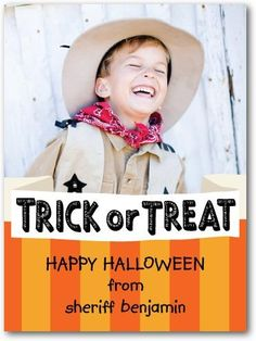 We're not tricking you, a Halloween card from your little monster is a treat your family will love.