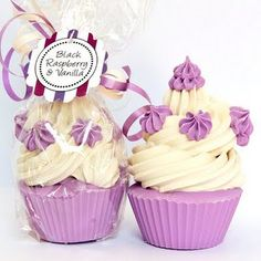 Black Raspberry + Vanilla Soap Cupcakes
