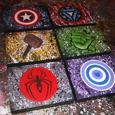 Original paintings - Avengers 6 piece set by RainbowFayArt on Etsy https://www.etsy.com/listing/237842734/original-paintings-avengers-6-piece-set
