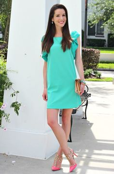 Mint, gold, and coral. Spring perfection.