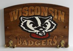 Wisconsin Badgers Handcrafted Wood Plaque by TeamPlaques4U, $32.95
