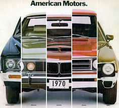 1970 American Motors Ambassador, Hornet, Javelin, Rebel and AMX brochure cover /   by coconv, via Flickr