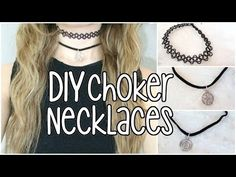 DIY Tattoo/ Charm Choker Necklaces - YouTube