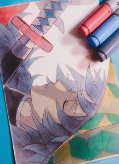 Anime Eyes, Anime Demon, Manga Anime, Anime Art, Marker Kunst, Copic Marker Art, Demon Slayer, Slayer Anime, Manga Tutorial