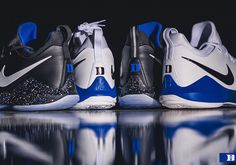 A look at two PE colorway of the Nike PG 1 for the Duke Blue Devils. Marvin Bagley, Grayson Allen, Duke Blue Devils, Championship Game, Basketball Teams, Shoe Game, Cleats, Kicks, Shoes Sneakers