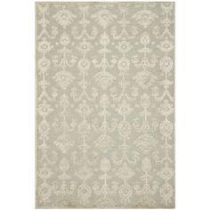 Safavieh Hand-knotted Tibetan Grey/ Linen Linen Rug (9' x 12')