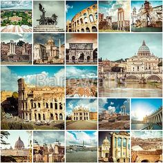 """Collage of photos from Rome, Italy"" - Rome posters and prints available at Barewalls.com"