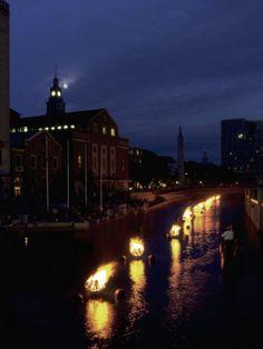 art.com: Waterplace Park at Night, Providence, RI Photographic Print