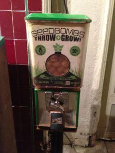 Seed bomb vending machine? Love this!