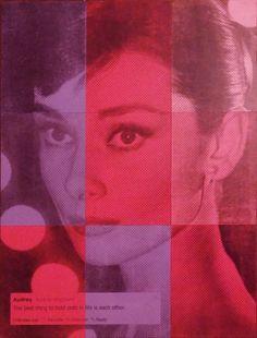 """Alejandro Vigilante; Acrylic, 2012, Painting """"Audrey Hepburn"""""""