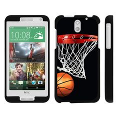 HTC Desire 610 Case SNAP SHELL 2 Piece Design Case - Basketball Swish