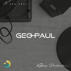 A minimal but eye catching logo for DJ Geo Paul  Logo Concept: The letters O and P resembles a dj disk or a turn table. #dj #logo #minimalistic