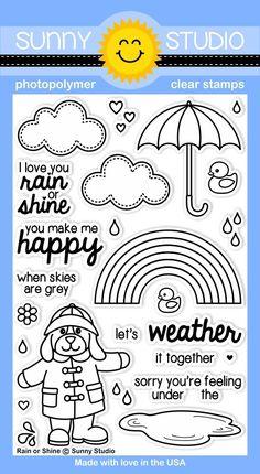 Sunny Studio Stamps Rain or Shine Stamps