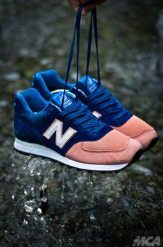 Sweetsoles – New Balance 574 Custom 'Salmon Toe'