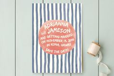 Ocean Stripe Save the Date Cards by A Little Big Picture at minted.com