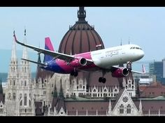 A Wizz Air Airbus A321 Makes Three Low Passes Over the Nagy Futam 2016 Event in Budapest