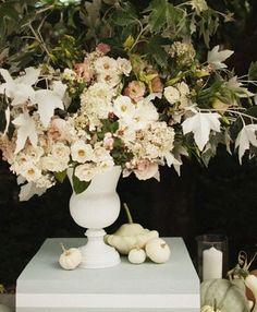 pretty muted fall wedding decor via @Once Wed