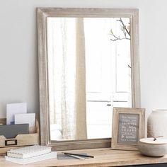 CORBIGNY natural wood mirror H 80 cm