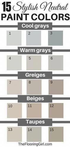 15 stylish neutral paint colors that work in almost every room. paint colors neutral 15 Stylish Neutral Paint Colors That Work In Almost Every Room Taupe Paint Colors, Bedroom Paint Colors, Exterior Paint Colors, Paint Colors For Living Room, Exterior House Colors, Paint Colors For Home, Neutral Colors, Taupe Color, Wall Colors