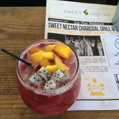 Drunken Dragon cocktail at Sweet Nectar Charcoal Grill & Spirits, Fort Lauderdale, Florida
