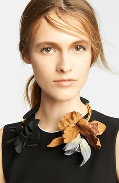 Marni Fabric Flower Half Necklace available at #Nordstrom