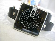 Handmade Bracelet Watch with real leather by alfrescouniquegroup, $69.00