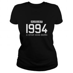 08 1994 August Star Was born T Shirt Hoodie Shirt VNeck Shirt Sweat Shirt Youth Tee for womens and Men