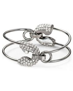 Juicy Couture B-Safety Pin Cuff Bracelet